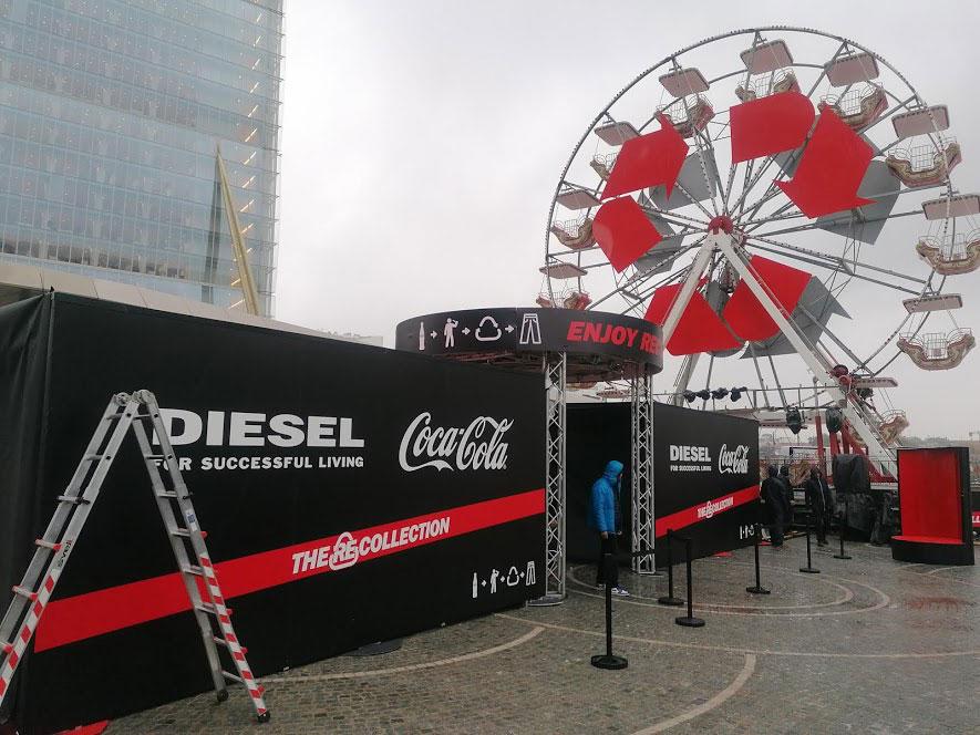 Brandizzazione Coca-Cola e Diesel